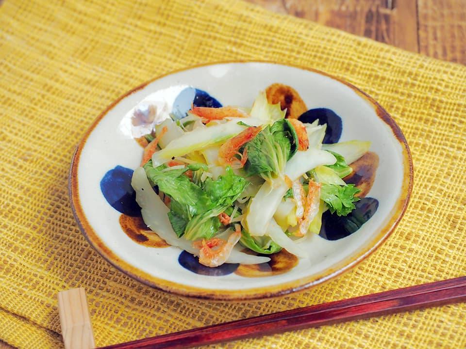料理写真_セロリとさくらえびの酢炒め