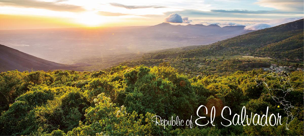 イメージ写真_世界のうまずっぱい料理_エルサルバドル共和国_街並みと地図