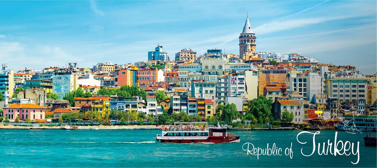 イメージ写真_世界のうまずっぱい料理_トルコ共和国_街並みと地図