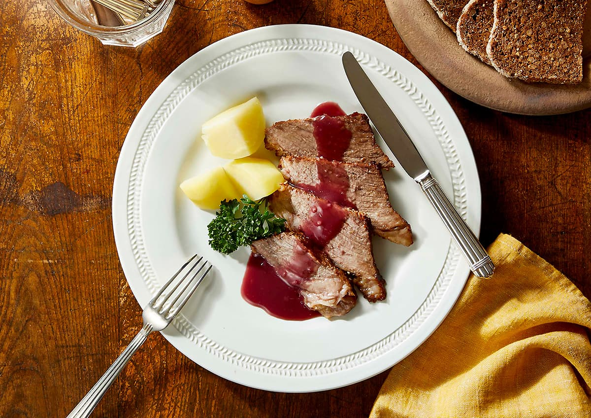 料理写真_ザワーブラーテン_上から撮った写真