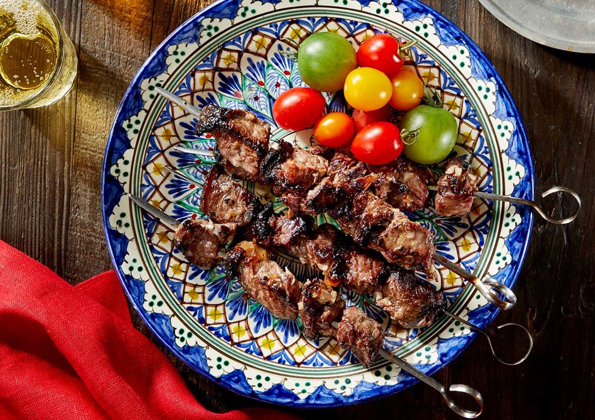 料理写真_ウズベグシャシリク_上から撮った写真