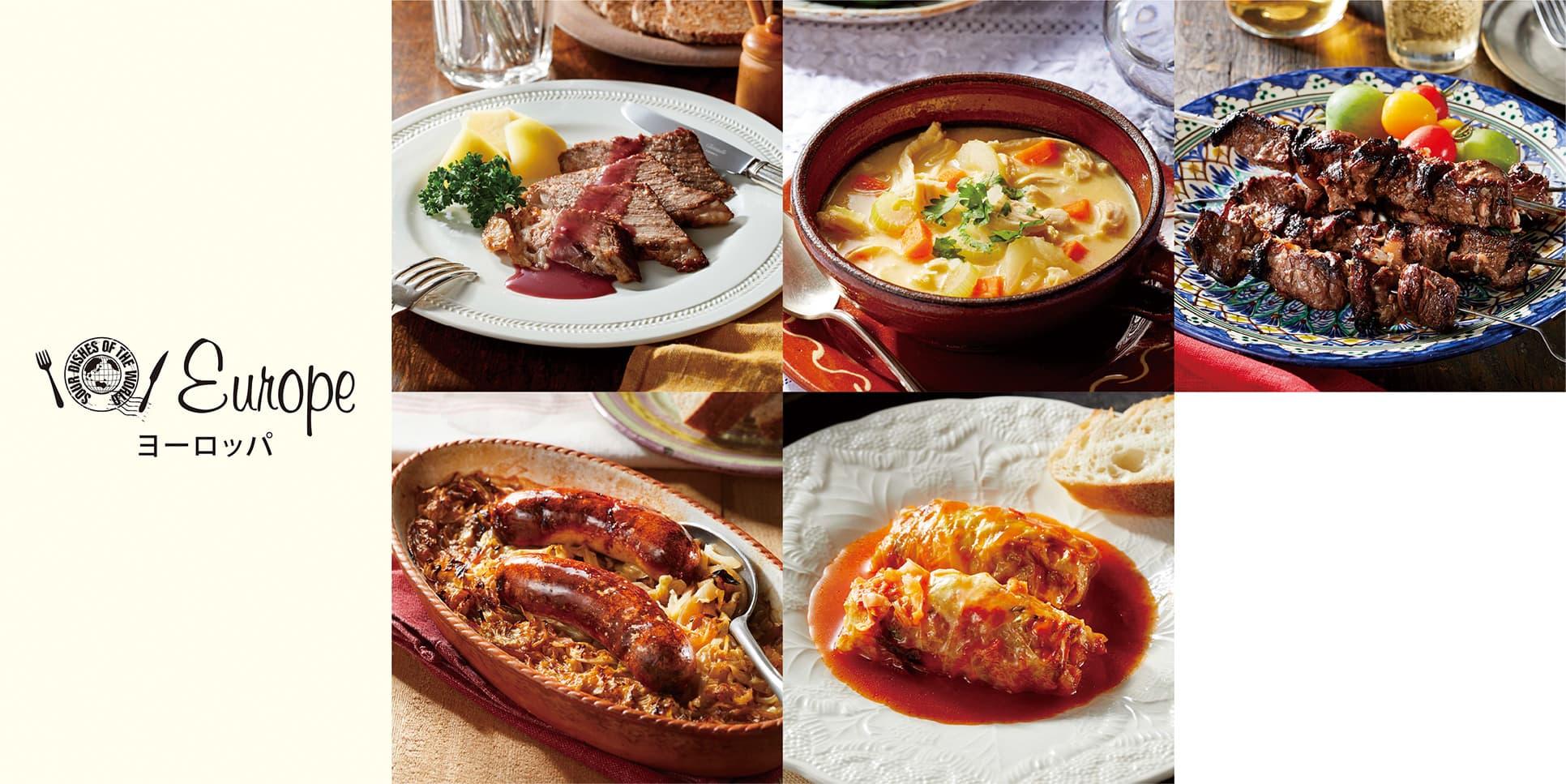 イメージ画像_世界のうまずっぱい料理_大陸の料理一覧_ヨーロッパ編