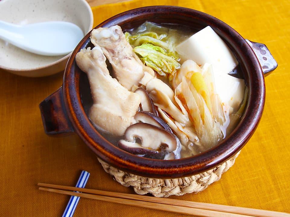料理写真_お酢をかけた鍋完成!