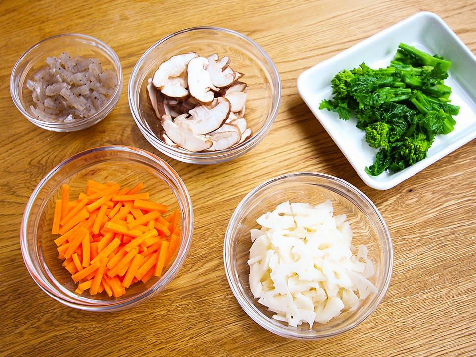 食材写真_ちらし寿司の材料