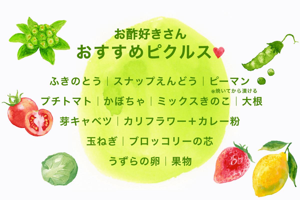 イラスト_お酢好きさんおすすめピクルス