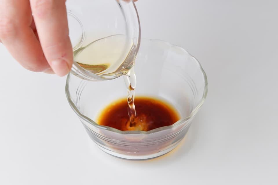 二杯酢を作っているところ